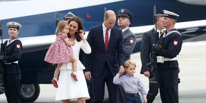 Принц Уильям с семьей прибыл в Варшаву. Фото Getty