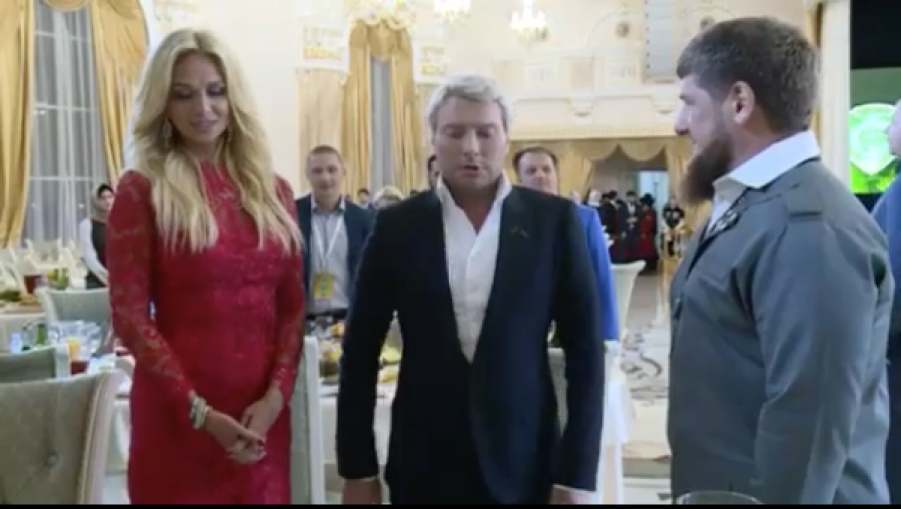 Виктория Лопырёва, Николай Басков и Рамзан Кадыров. Фото Фото из Instagram.