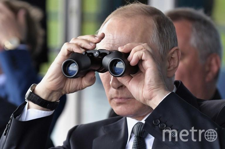 Владимир Путин на МАКС-2017 в Жуковском. Фото AFP
