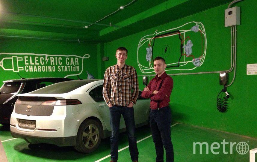 Алексей Трофимов за свой счет открывает заправки для электромобилей. Фото Предоставлено Алексеем Трофимовым.
