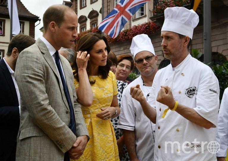 Уильям и Кейт в Германии. Фото AFP