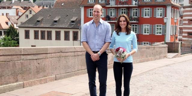 Принц Уильям и герцогиня Кейт посетили онкоцентр в Германии