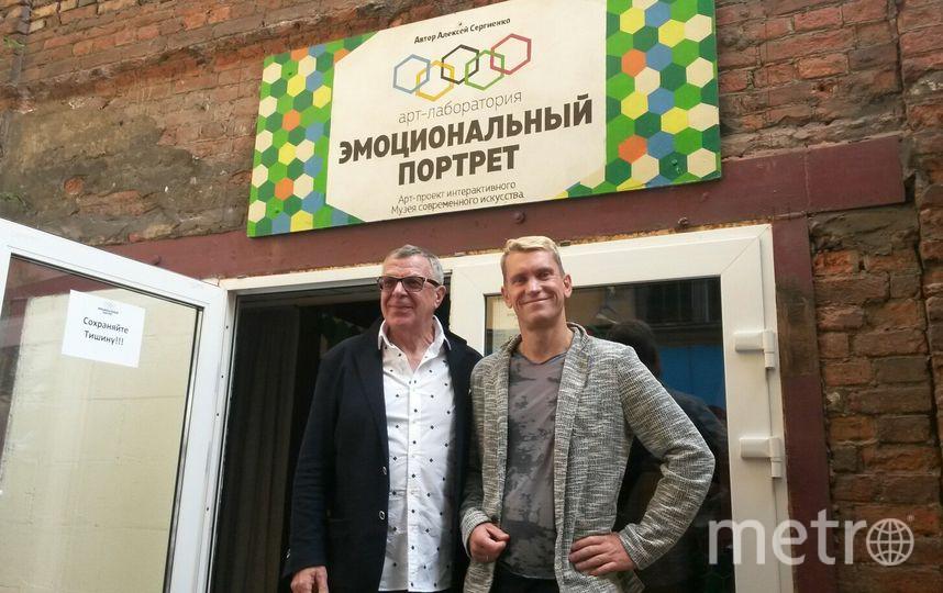 """Андрей Ургант и художник Сергиенко. Фото Ольги Рябининой, """"Metro"""""""
