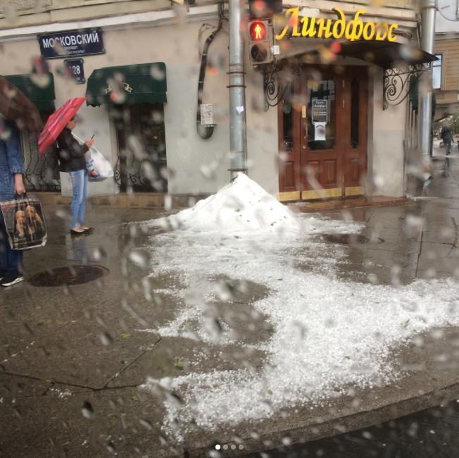 Снег в Петербурге. Фото Instagram @susechka_masusechka