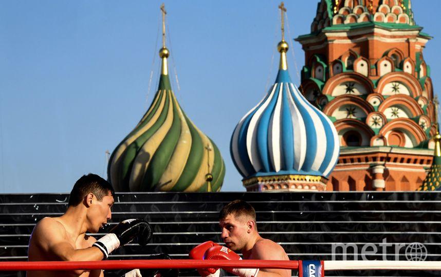 Открытая тренировка по боксу на Красной площади. Фото AFP