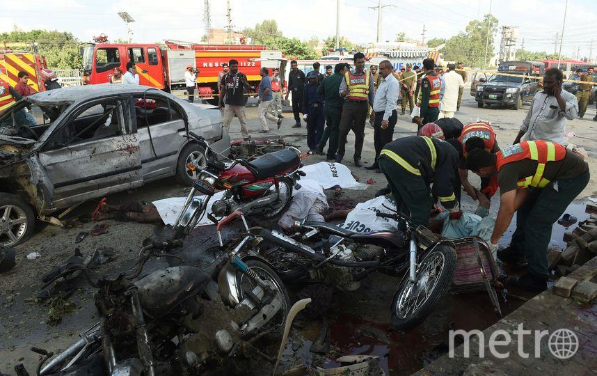 Фото с места теракта. Фото AFP