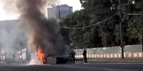 Огненное ДТП с пострадавшими на Волоколамском шоссе в Москве: видео