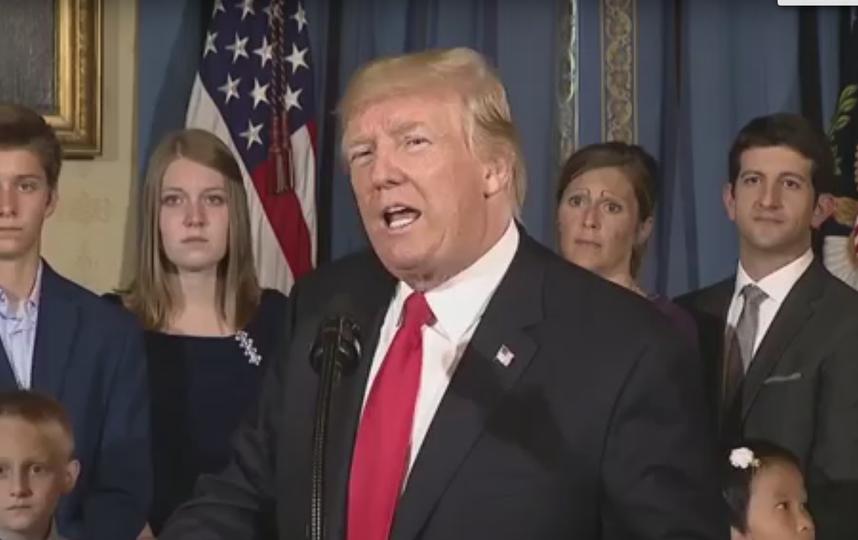 Выступление Дональда Трампа. Фото Скриншот Youtube