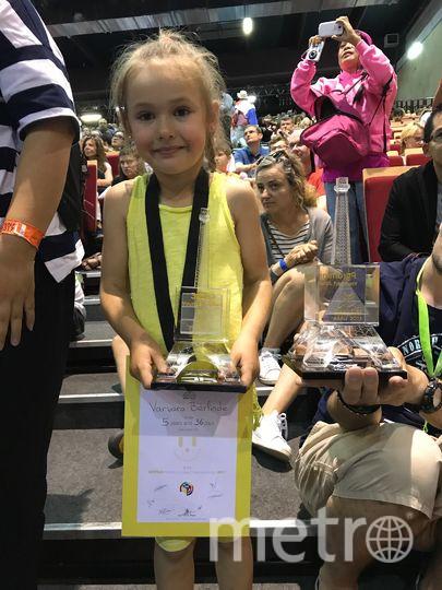 Пятилетняя петербурженка стала самой юной участницей чемпионата мира по спидкубингу. Фото Фото из личного архива семьи Берлинде.