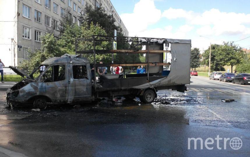 «Газель» дотла сгорела впожаре вКупчино