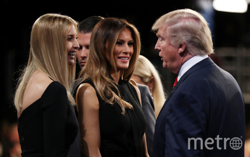 Дональд Трамп с дочерью Иванкой и женой Меланией. Фото Getty