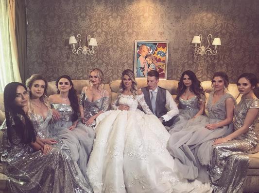 Свадьба Никиты Преснякова и Алёны Красновой. Фото Instagram/vika_marchelo