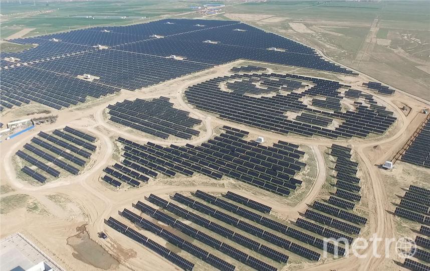 "Фото солнечной электростанции ""Панда"", вид сверху. Фото UNDP China"