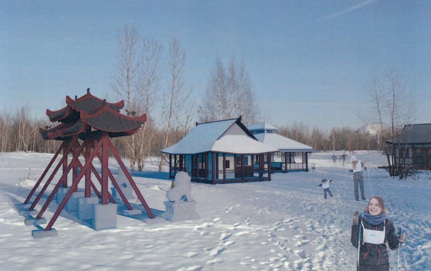 Проект одного из павильонов – японского чайного домика.
