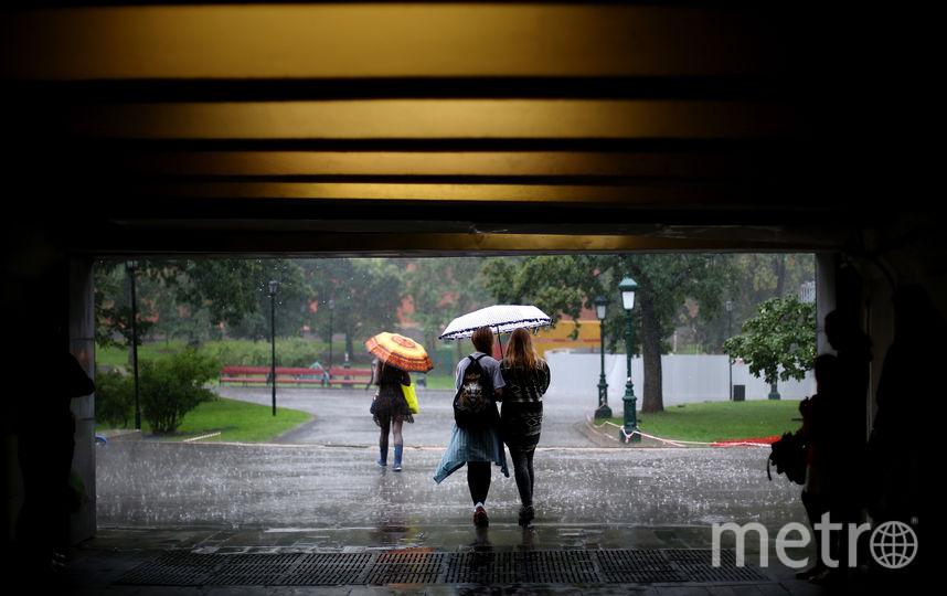 Дождь в Москве. Фото Getty