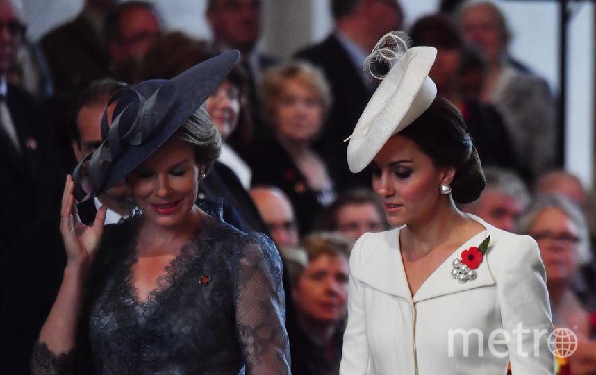 Кейт Миддлтон и королева Бельгии. Фото Getty