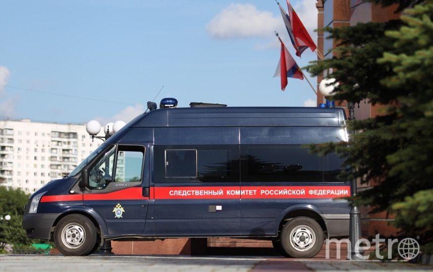 Автомобиль Следственного комитета у здания Московского областного суда. Фото Василий Кузьмичёнок