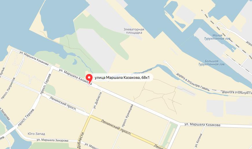 Мужчина упал с верхних этажей дома №68 корпус 1 на улице Маршала Казакова. Фото яндекс.карты