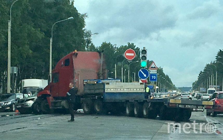 Два человека погибли вмассовом ДТП под Петербургом