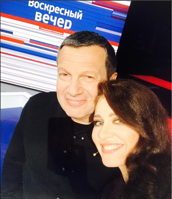С Владимиром Соловьевым. Фото instagram.com/irina_berezhnaya_official