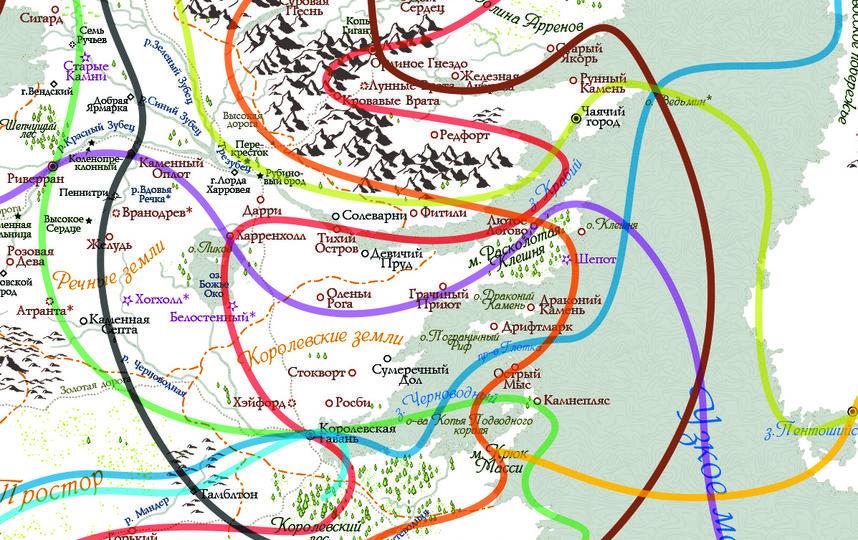 В дальнейшем Сергей планирует доработать карту и сделать её более похожей на оригинал. Фото BEHANCE.NET | SAMUEL ROSTO.