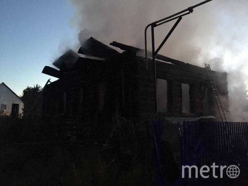Фото с места пожара в Башкирии. Фото http://02.mchs.gov.ru