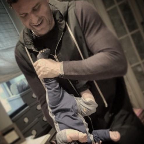 Максим Виторган с сыном Платоном. Фото Instagram Максима Виторгана