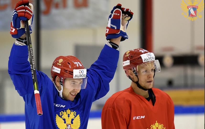 Тренировка Олимпийской сборной России. Фото fhr.ru