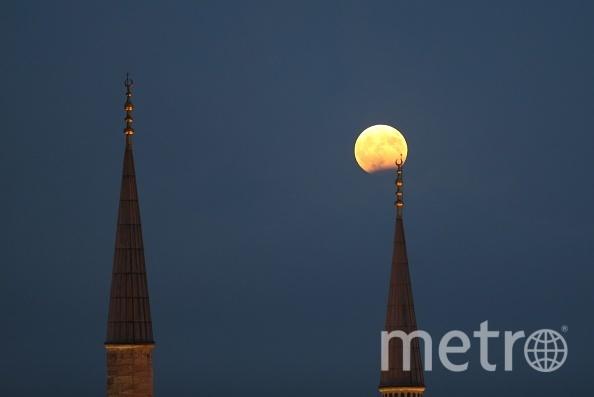 Частное лунное затмение. Фото Getty