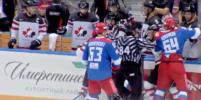 На хоккейном матче Россия-Канада произошла массовая драка — Видео