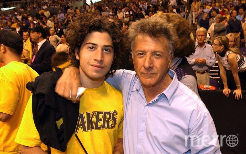 Дастин Хоффман с сыном. Фото Getty