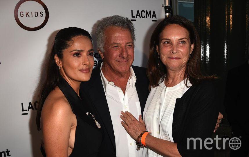 Дастин Хоффман с Сальмой Хайек и супругой Лизой. Фото Getty