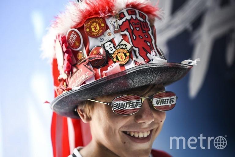 """Фанаты готовятся к матчу """"Реал"""" Мадрид – """"Манчестер Юнайтед"""" 8 августа 2017 года. Фото AFP"""