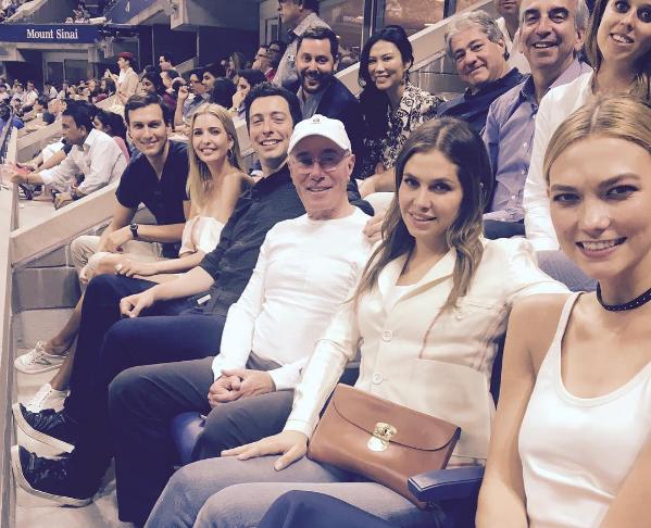 Даша Жукова на US Open осенью 2016 года - рядом Иванка Трамп. Фото instagram