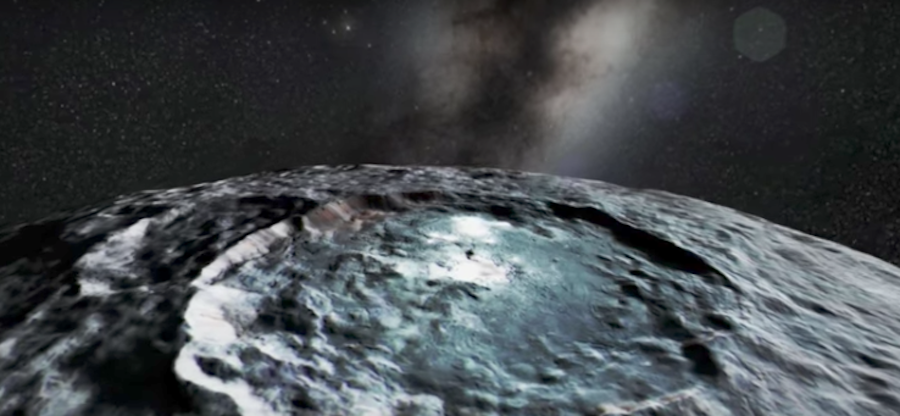 Изображение астероида. Фото Скриншот Youtube
