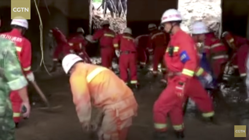 Землетрясение произошло в Китае. Фото Скриншот Youtube
