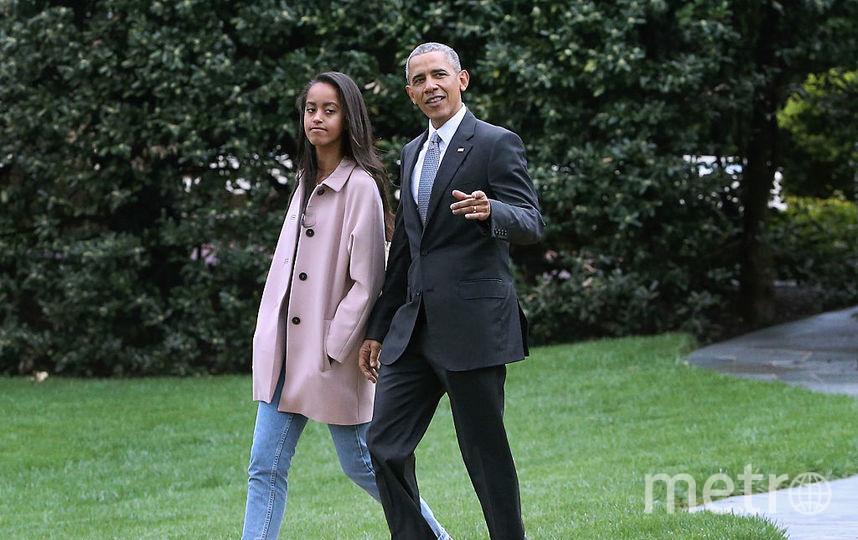 Барак Обама в дочерью Малией. Фото Getty