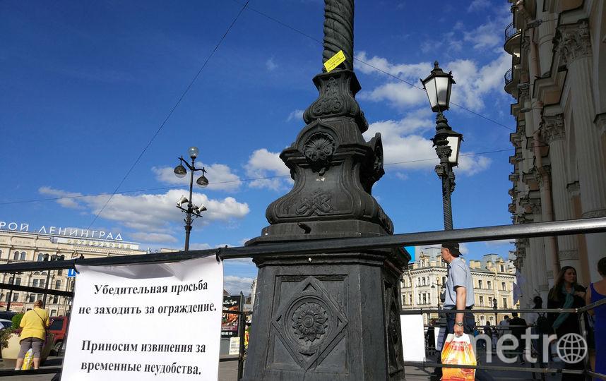 """Фонарь возле Московского вокзала. Фото Святослав Акимов, """"Metro"""""""