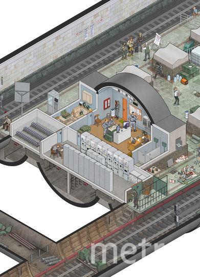 Нашествие зомби в столичном метро. Фото Максим Дегтярёв