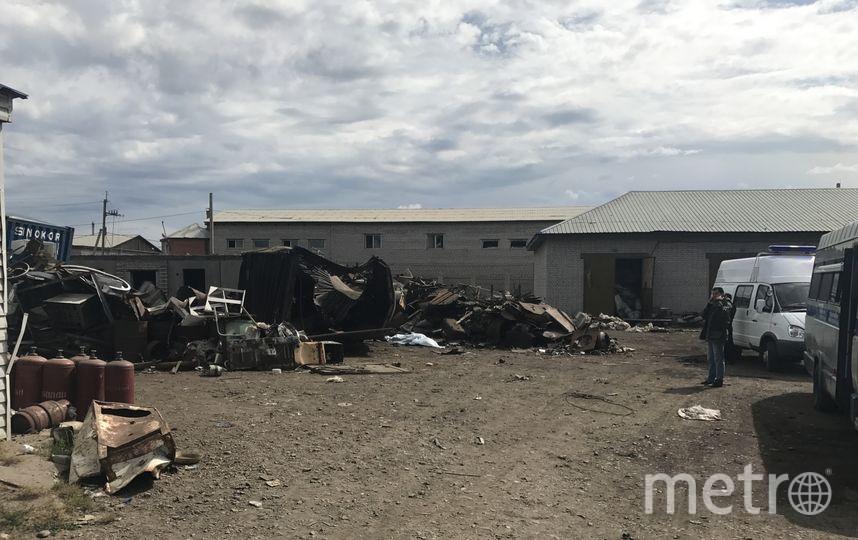 Пункт приёма металлолома в Чите, где сегодня прогремел взрыв. Фото http://zabaykalye.sledcom.ru/
