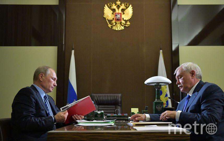 О мероприятиях в день рождения Собчака Полтавченко доложил Путину. Фото kremlin.ru