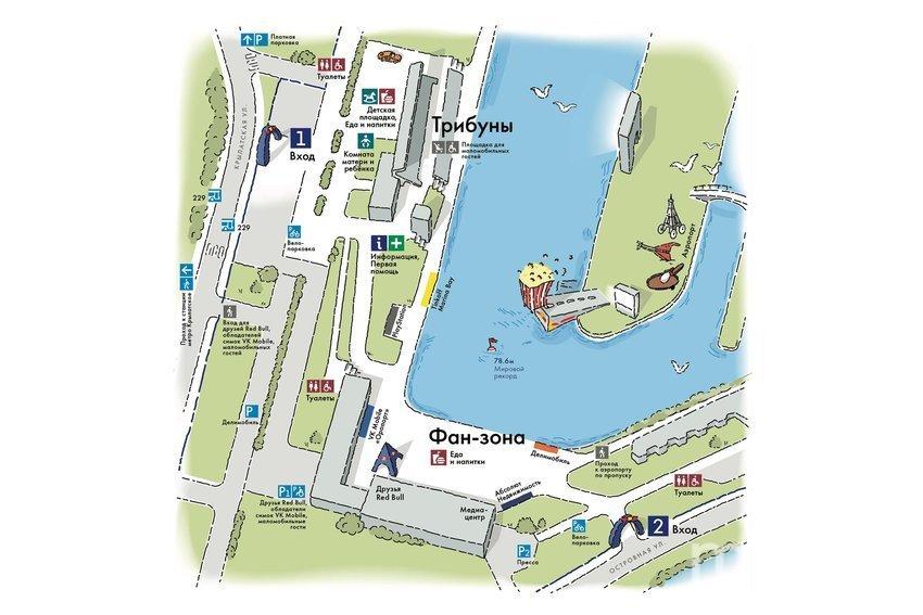 Схема площадки Дня полётов. Фото предоставлено организаторами.