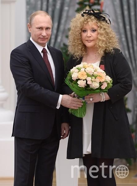 Алла Борисовна Пугачёва и Владимир Владимирович Путин. Фото РИА Новости