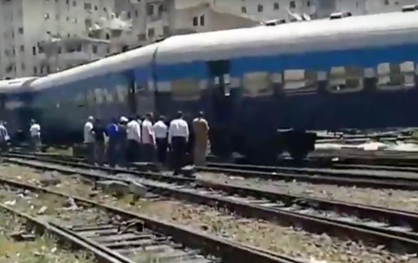 Столкновение поездов в Египте. Фото Скриншот Youtube