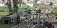 Число жертв столкновения поездов в Египте возросло до 49 человек