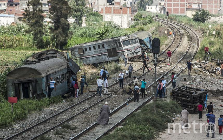 Фото с места столкновения поездов. Фото AFP