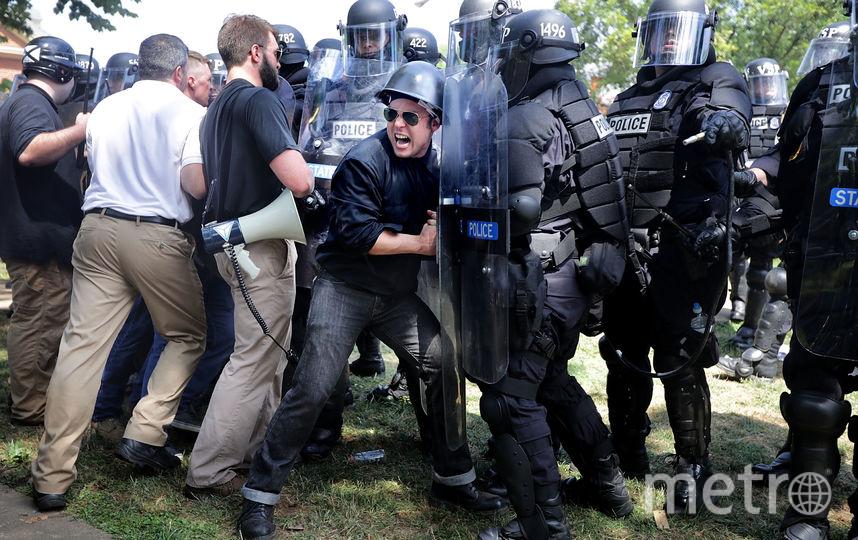 Беспорядки в Шарлоттсвилле 12 августа 2017. Фото Getty