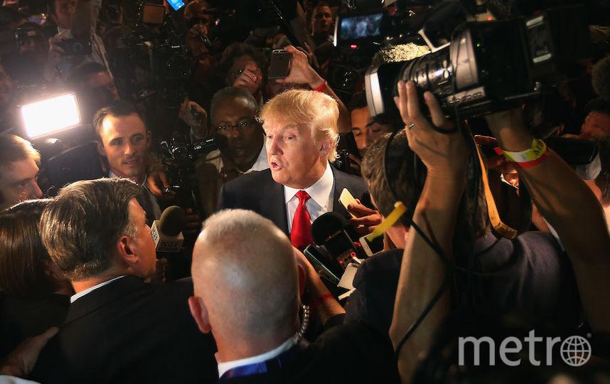 Трамп и СМИ. Фото Getty