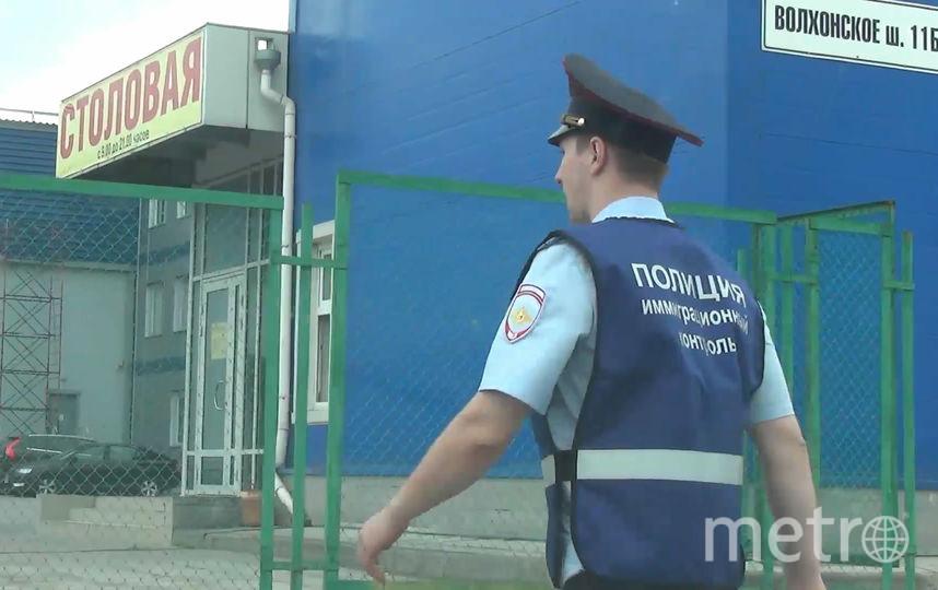 Полицейский рейд в промзоне на юге Петербурга проходил 10 августа. Фото предоставлены ГУВД Петербурга.