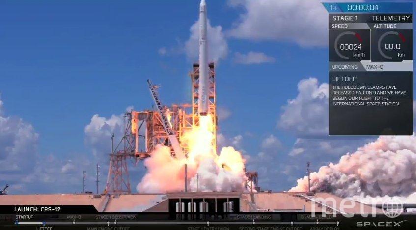 Запуск Falcon 9. Фото  @SpaceX